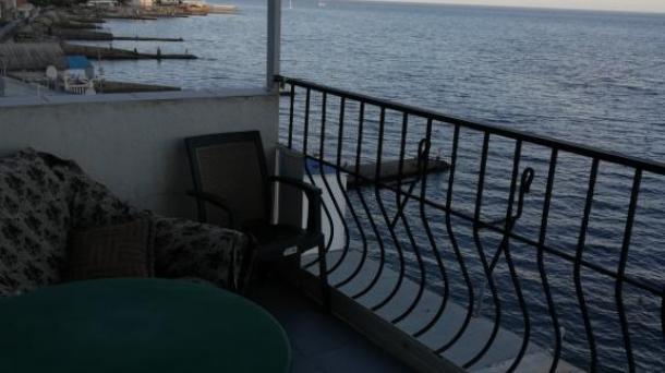 Эллинг на берегу моря в Отрадном.